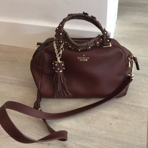 Kate Spade burgundy cross body bag with floral